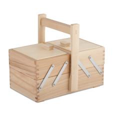 Cesto porta utensili in legno legno chiaro 24,6x14,8 h12,6 con manico