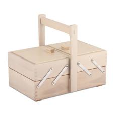 Cesto porta utensili in legno legno chiaro 29x17,6 h12,6 con manico
