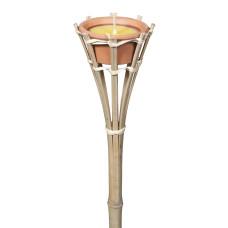 Torcia alta in bambù dimensioni H 60 x Ø 8.50cm