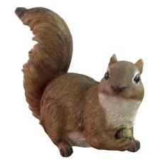 Statua di scoiattolo da giardino in poliresina