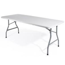 Tavolo Pieghevole in Acciaio e Plastica