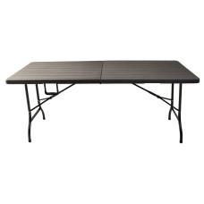 Tavolo piegh. effetto legno 180x70x74