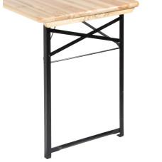 Gambe di ricambio per tavolo set birreria 2 pezzi dimensioni 73x53x2.5