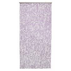 Tenda Perlina dimensioni 120x240, colore cristal/lilla. Numero di fili: 96