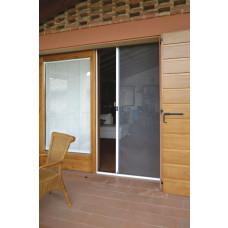 Zanzariera per porta a rullo orizzontale dimensioni 160x250, colore marrone