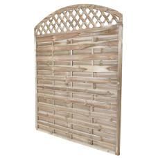 Pannello legno frangivento con arco 180x180cm