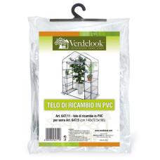 Telo di ricambio in PVC trasparente per serra a casetta rettangolare a 8 ripiani 647/5 VerdeLook