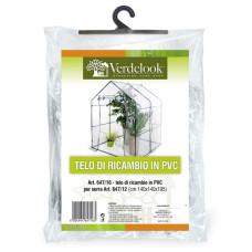 Telo di ricambio in PVC trasparente per serra a casetta 647/12 VerdeLook