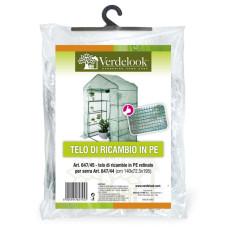 Telo di ricambio in PE retinato per serra a casetta rettangolare a 8 ripiani 647/44 VerdeLook