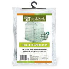 Telo di ricambio in PE retinato per serra a casetta 6 ripiani 647/24 VerdeLook