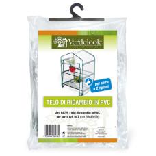 Telo di ricambio in PVC trasparente per serre 2 ripiani 647 e 647/19 VerdeLook