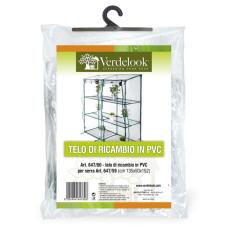 Telo di ricambio in PVC trasparente per serra rettangolare a 3 ripiani 647/59 VerdeLook
