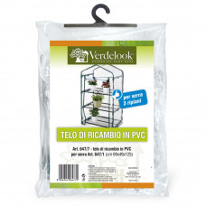 Telo di ricambio in PVC trasparente per serra 3 ripiani 647/1 VerdeLook