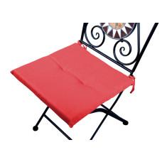 Cuscino quadrato anti-macchia per sedia rosso