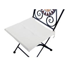 Cuscino quadrato anti-macchia per sedia bianco
