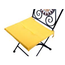 Cuscino quadrato anti-macchia per sedia giallo