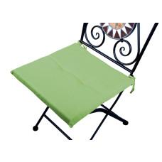 Cuscino quadrato anti-macchia per sedia verde