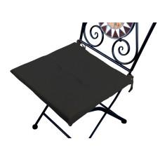 Cuscino quadrato anti-macchia per sedia nero