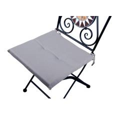 Cuscino quadrato anti-macchia per sedia grigio