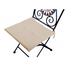 Cuscino quadrato anti-macchia per sedia beige