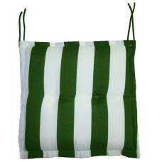 Cuscino Seduta Con Volant - Rigato Bianco/Verde