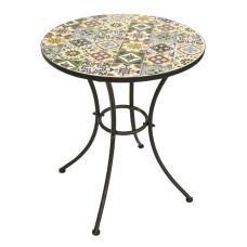 Tav.Mosaico Metallo Flower Design D.60