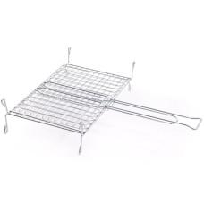 Griglia di cottura in acciaio inox con piedini 40x45 cm