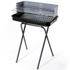 Barbecue in acciaio con paravento