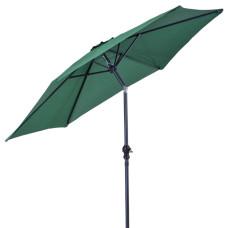 ombrellone con manovella, colore verde scuro