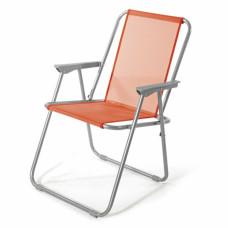 Sedia Pieghevole in Acciaio e Textilene Lanzarote colore Arancione