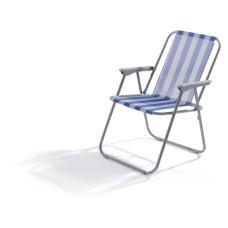 Sedia Lanzarote dimensioni 52x44x75 cm colore bianco e blu