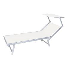 Lettino Rimini dimensioni 186x61x38 cm colore bianco