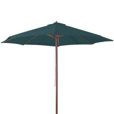 Ombrellone in legno dimensioni 3x3, colore verde scuro