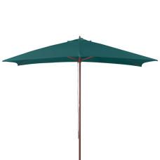 ombrellone in legno dimensioni 3x2, colore verde scuro