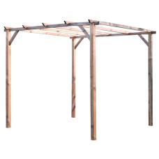 Gazebo a pergola in legno 3 x 3 m senza copertura