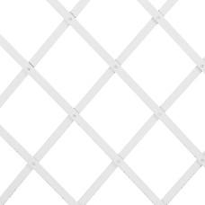 Traliccio estensibile in Plastica bianco dimensioni 100x100, colore bianco