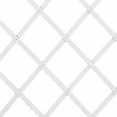 Traliccio estensibile in Plastica bianco dimensioni 100x200, colore bianco