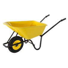 Carriola con vasca in PVC giallo 100 L