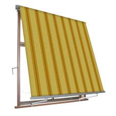 Tenda a caduta con braccetti Milos dimensioni 2.45x3.00m colore beige/ocra