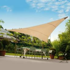 Tenda ombreggiante vela triangolare ecrù 3x3x3m ombra giardino capeggio 824/1