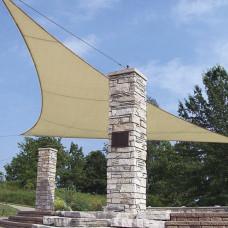 Tenda a Vela Triangolare Ecrù 3.6x3.6x3.6m