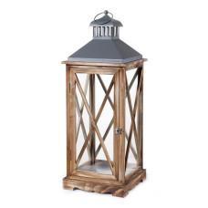 Lanterna Arles M dimensioni 24x24x65 cm colore marrone