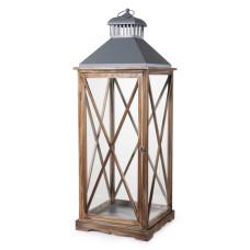 Lanterna Arles L dimensioni 32x32x90 cm colore marrone