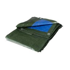 Telo occhiellato Blu/Verde dimensioni 4x4m colore verde/blu